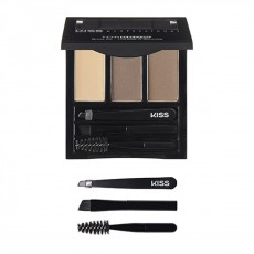 Палетка - набор для бровей Kiss New York Professional Top Brow Kit  - EBONY
