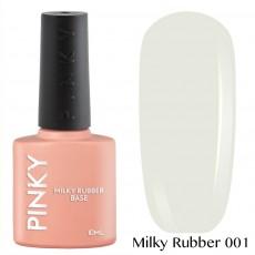 База каучуковая  PINKY камуфлирующая сверхстойкая PINKY Milky Rubber Base 001 10ml