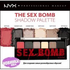Набор для макияжа ТЕНИ NYX THE SEX BOMB SHADOW PALETTE арт TSB 01