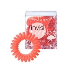 Резинка-браслет для волос Invisibobble Fancy Flamingo-коралловая