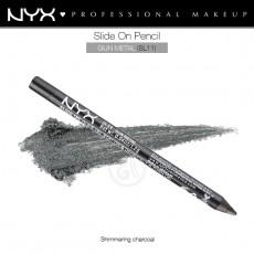 Карандаш для глаз устойчивый NYX SLIDE ON PENCIL GUN METAL арт SL11