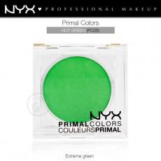 Пигменты компактные прессованные Primal Colors Face Powder арт PC08 Hot Green