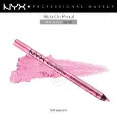 Карандаш для глаз устойчивый NYX SLIDE ON PENCIL PINK SUEDE арт SL 01