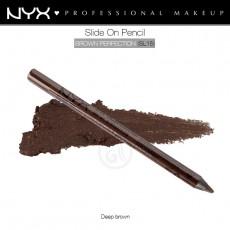Карандаш для глаз устойчивый NYX SLIDE ON PENCIL BROWN PERFECTION арт SL 15