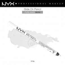 Карандаш для глаз устойчивый NYX SLIDE ON PENCIL PURE WHITE арт SL 04