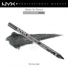 Карандаш для глаз устойчивый NYX SLIDE ON PENCIL BLACK SPARKLE арт SL 02
