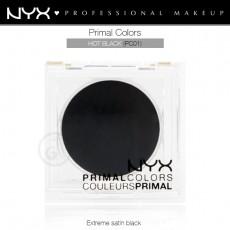 Пигменты компактные прессованные Primal Colors Face Powder арт PC01 HOT BLACK FACE POWDER
