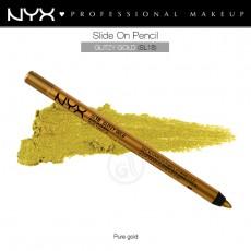 Карандаш для глаз устойчивый NYX SLIDE ON PENCIL GLITZY GOLD арт SL 18