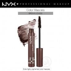 Тушь для ресниц цветная NYX Color Mascara BROWN  арт CM 03