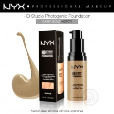 Тональная основа для лица NYX HD Studio Photogenic Foundation арт HDF07- Warm Sand
