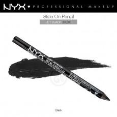 Карандаш для глаз устойчивый NYX SLIDE ON PENCIL JET BLACK арт SL 07