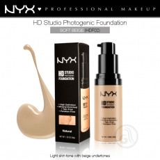 Тональная основа для лица NYX HD Studio Photogenic Foundation арт HDF02- Soft Beige