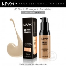 Тональная основа для лица NYX HD Studio Photogenic Foundation арт HDF04- Sand Beige