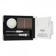 Пудра для бровей Eyebrow Cake Powder ECP 02 DARK BROWN/ BROWN