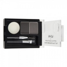 Пудра для бровей Eyebrow Cake Powder ECP 01 Black/Gray