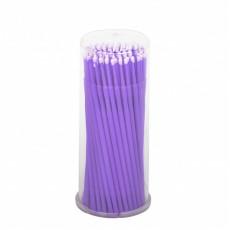 Щеточки Microbrush микрощеточки безворсовые 100шт фиолетовые