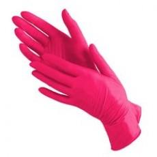 Перчатки Benovy нитриловые неопудренные красные размер M 100 шт